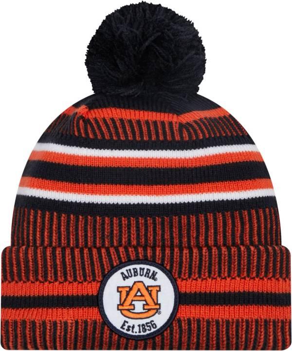 New Era Men's Auburn Tigers Blue Knit Pom Beanie product image