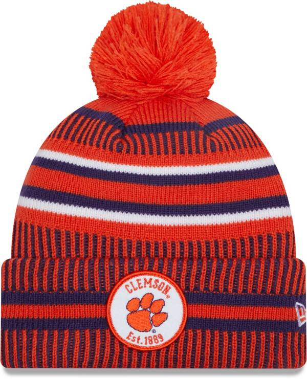 New Era Men's Clemson Tigers Orange Sport Knit Pom Beanie product image