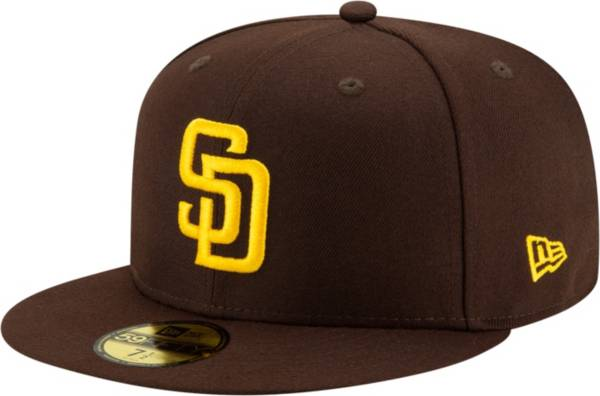 New Era Men's San Diego Padres 59Fifty Game Dark Brown Game Fitted Hat product image