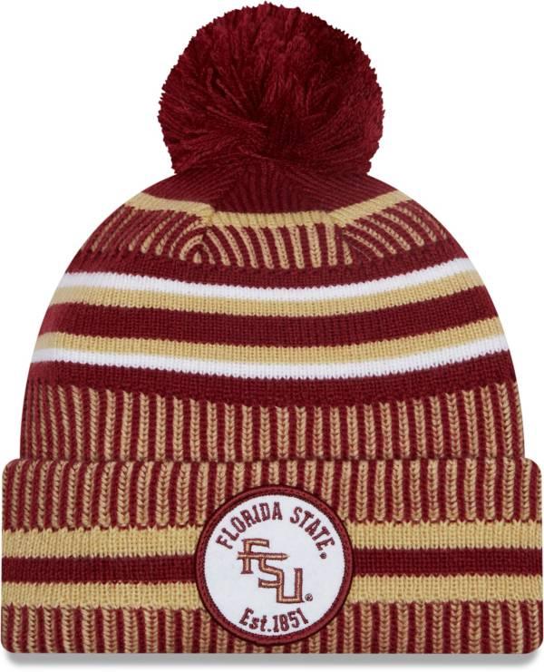 New Era Men's Florida State Seminoles Garnet Sport Knit Pom Beanie product image