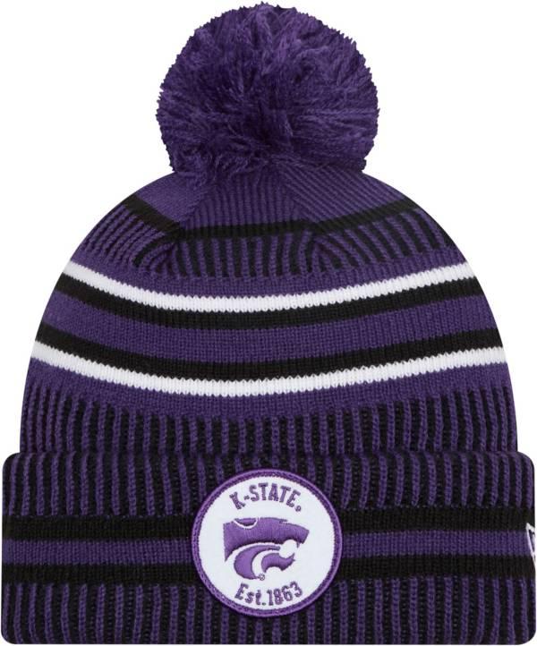 New Era Men's Kansas State Wildcats Purple Knit Pom Beanie product image