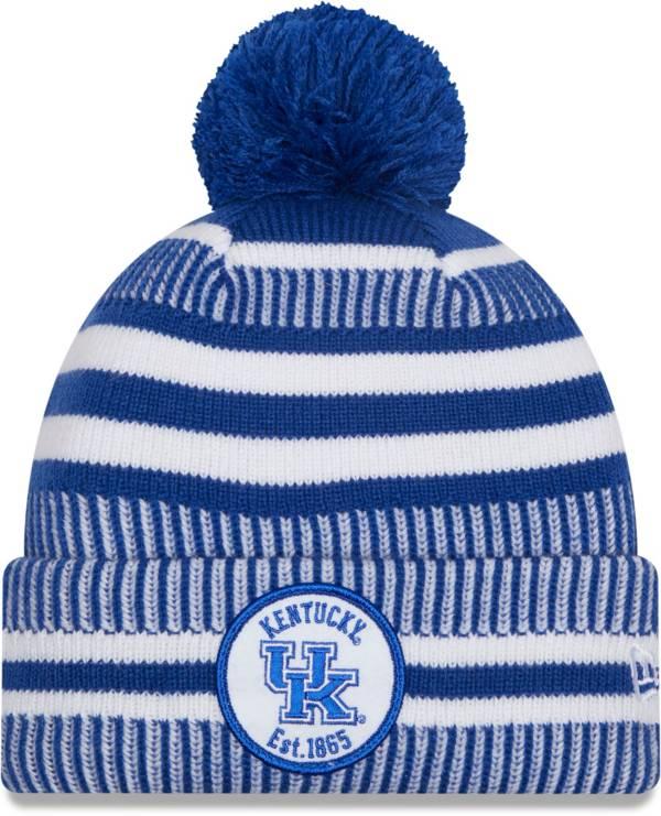 New Era Men's Kentucky Wildcats Blue Sport Knit Pom Beanie product image