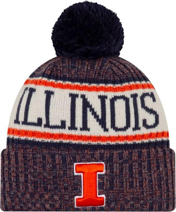 New Era Men's Illinois Fighting Illini Sport Navy Knit Hat product image