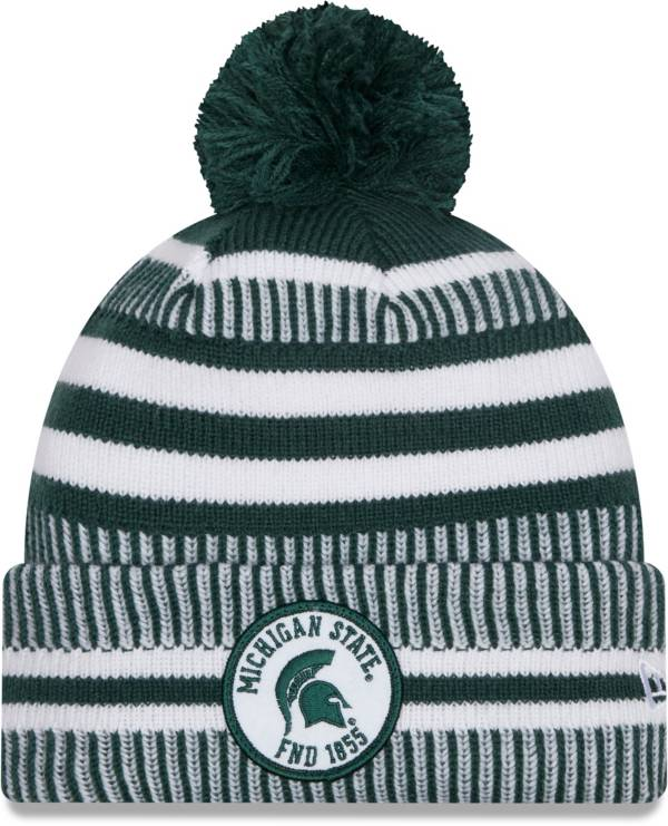 New Era Men's Michigan State Spartans Green Sport Knit Pom Beanie product image
