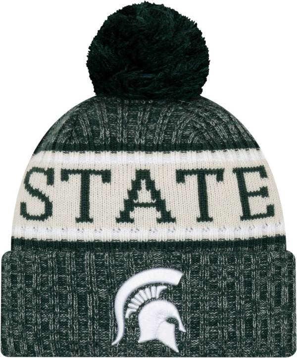 New Era Men's Michigan State Spartans Sport Green Knit Hat product image