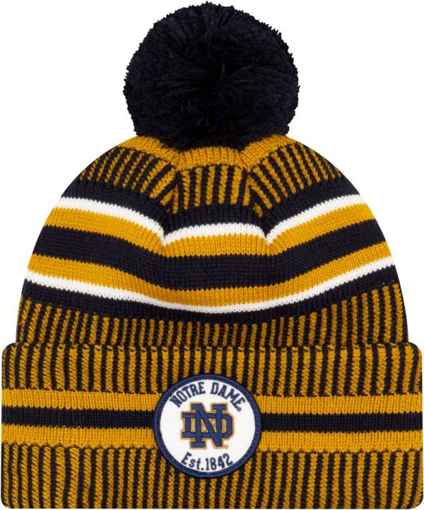 New Era Men's Notre Dame Fighting Irish Navy Knit Pom Beanie product image