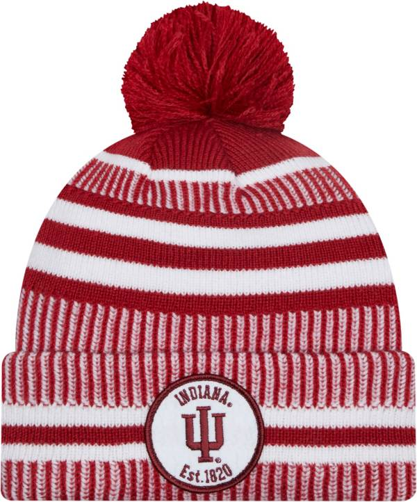 New Era Men's Indiana Hoosiers Crimson Knit Pom Beanie product image