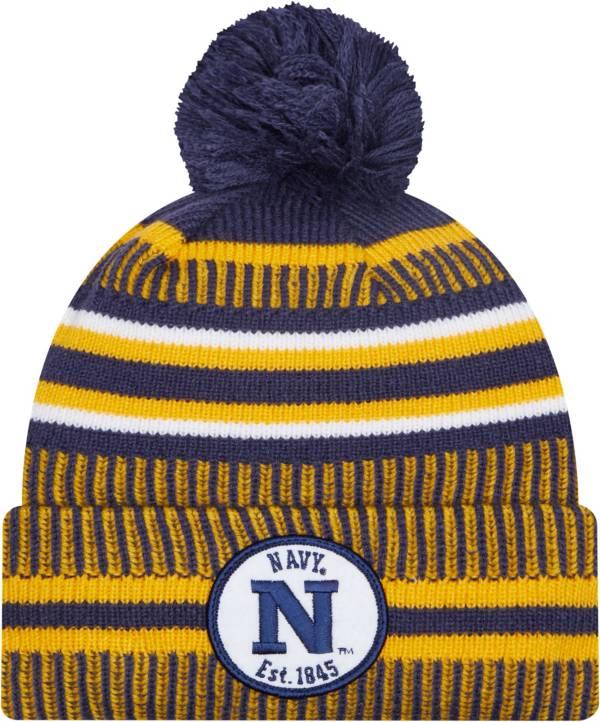 New Era Men's Navy Midshipmen Navy Knit Pom Beanie product image