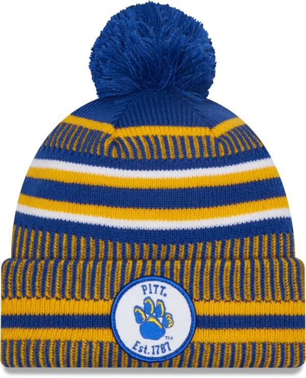 New Era Men's Pitt Panthers Blue Sport Knit Pom Beanie product image