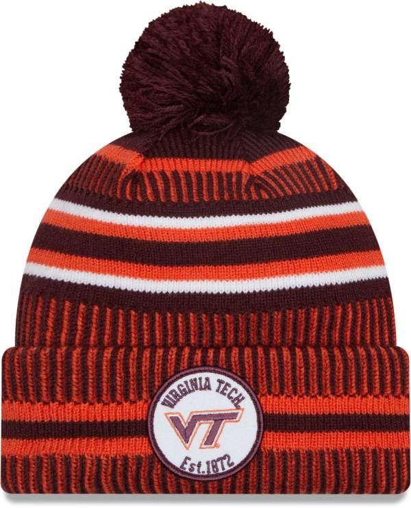 New Era Men's Virginia Tech Hokies Maroon Sport Knit Pom Beanie product image
