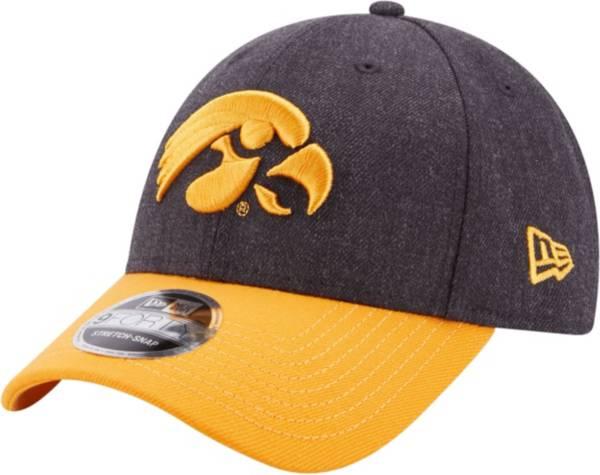 New Era Men's Iowa HawkeyesLeague 9Forty Adjustable  Black Hat product image