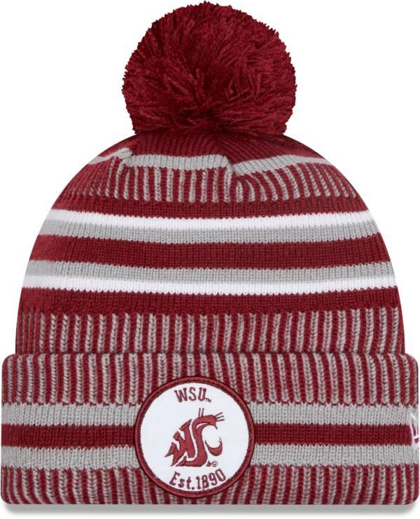 New Era Men's Washington State Cougars Crimson Sport Knit Pom Beanie product image