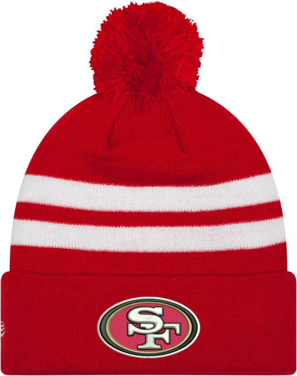 New Era Men's San Francisco 49ers Red Cuffed Pom Top Knit Hat product image