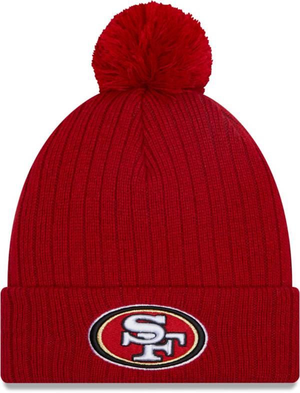 New Era Men's San Francisco 49Ers Red Breeze Knit Pom Beanie product image