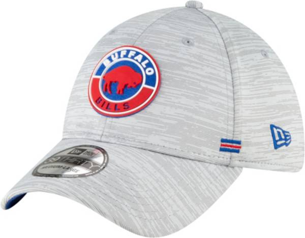 New Era Men's Buffalo Bills Grey Sideline 39Thirty Road Fitted Hat product image