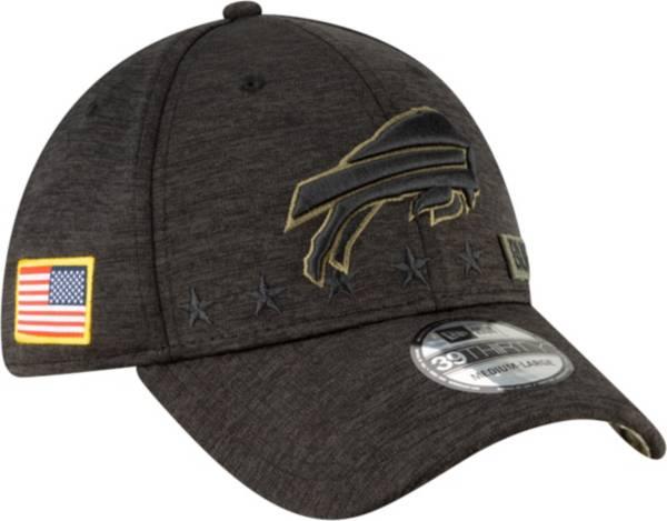 New Era Men's Salute to Service Buffalo Bills 39Thirty Stretch Fit Black Hat product image