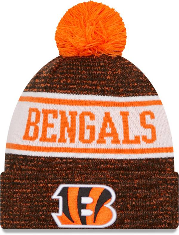New Era Men's Cincinnati Bengals Banner Knit Pom Black Beanie product image