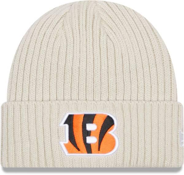 New Era Men's Cincinnati Bengals Core Cuffed Knit White Beanie product image