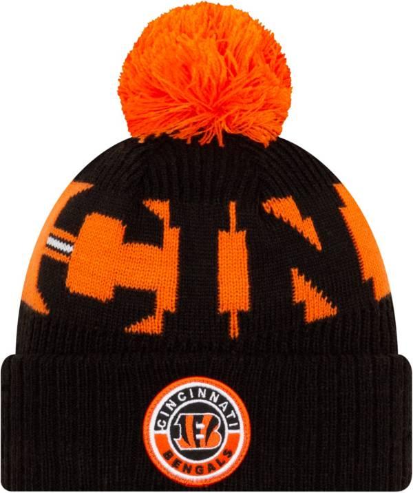 New Era Men's Cincinnati Bengals Sideline Sport Black Knit Hat product image