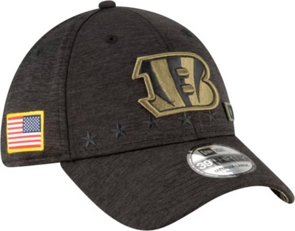 New Era Men's Salute to Service Cincinnati Bengals 39Thirty Stretch Fit Black Hat product image
