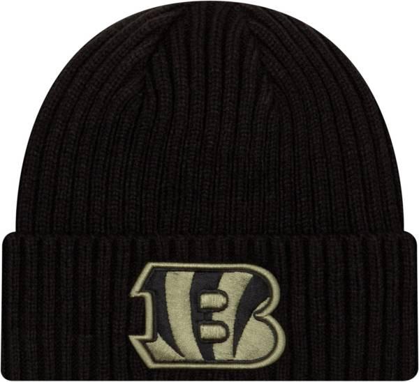 New Era Men's Salute to Service Cincinnati Bengals Black Knit Hat product image