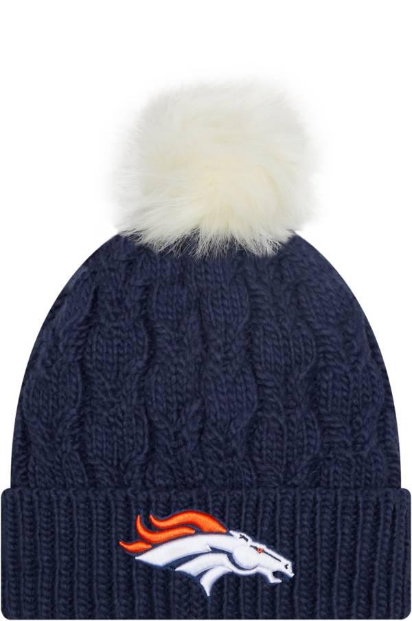 New Era Women's Denver Broncos Navy Flurry Knit Pom Beanie product image
