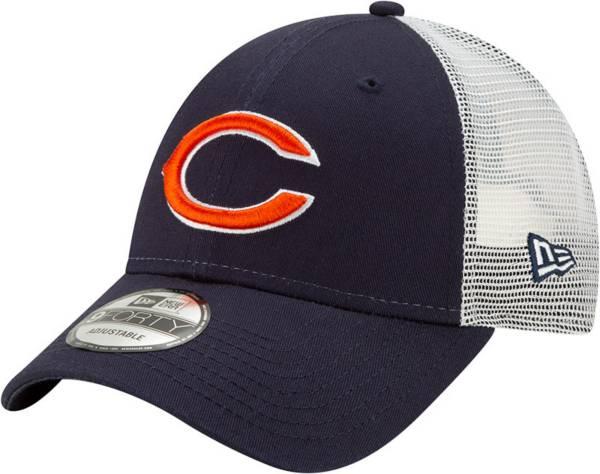 New Era Men's Chicago Bears Navy 9Forty Trucker Adjustable Hat product image
