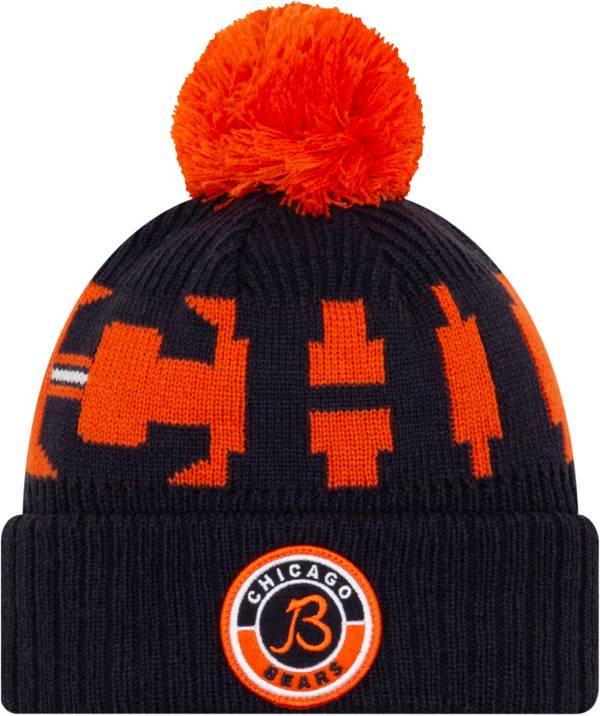 New Era Men's Chicago Bears Sideline Sport Navy Knit Hat product image