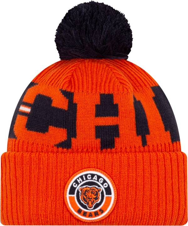 New Era Men's Chicago Bears Sideline Sport Orange Knit Hat product image