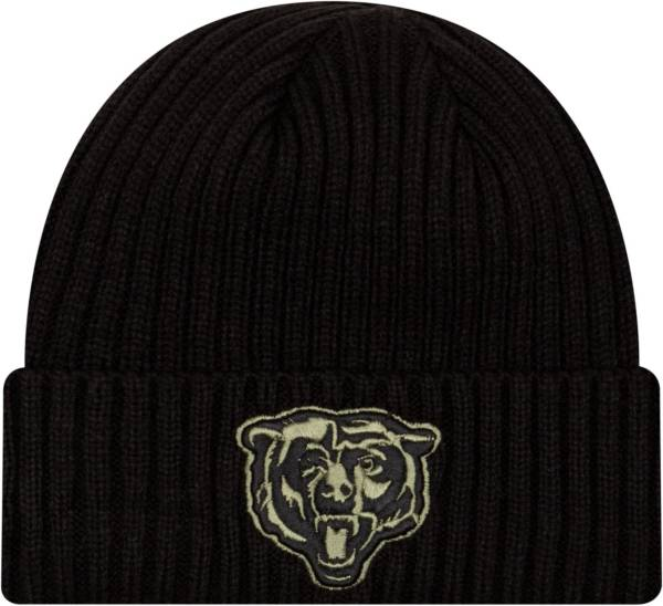 New Era Men's Salute to Service Chicago Bears Black Knit Hat product image
