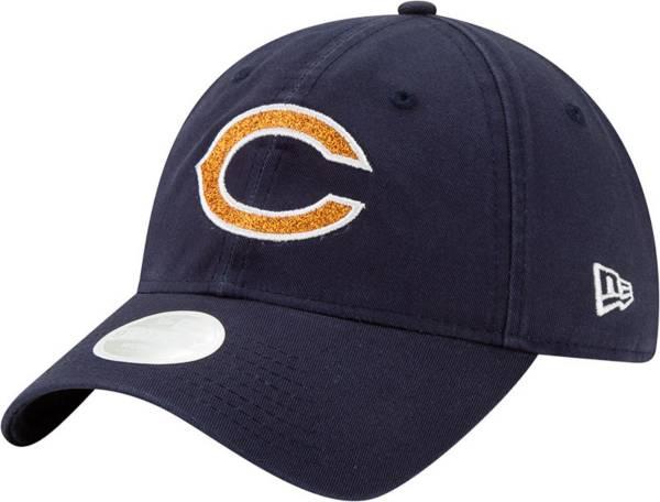 New Era Women's Chicago Bears Navy Glisten 9Twenty Adjustable Hat product image