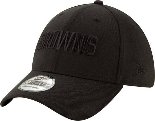 New Era Men's Cleveland Browns Black 39Thirty Tonal Fitted Hat product image