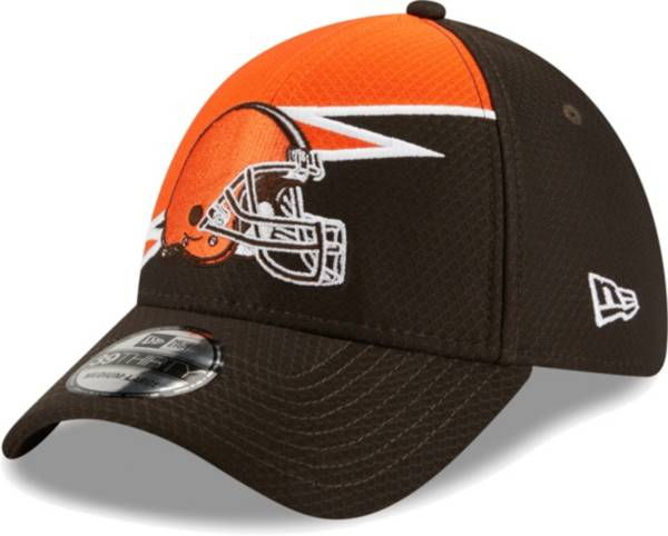 New Era Men's Cleveland Browns Brown 39Thirty Bolt Fitted Hat product image
