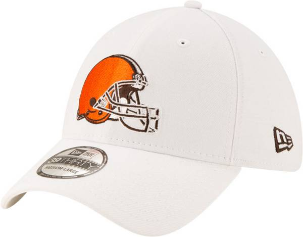 New Era Men's Cleveland Browns White 39Thirty Logo Fitted Hat product image