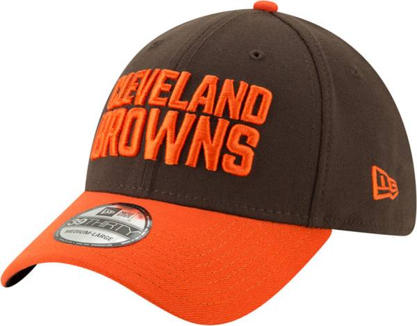 New Era Men's Cleveland Browns Orange 39Thirty Classic Fitted Hat product image