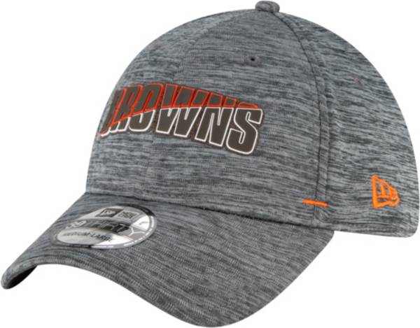 New Era Men's Cleveland Browns Grey Summer Sideline 39Thirty Stretch Fit Hat product image