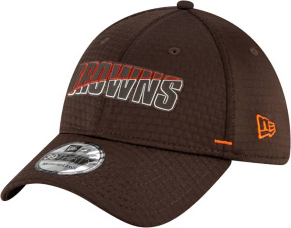 New Era Men's Cleveland Browns Brown Summer Sideline 39Thirty Stretch Fit Hat product image