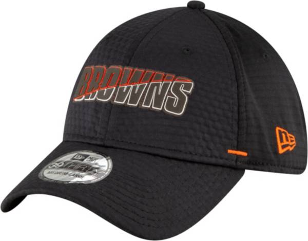 New Era Men's Cleveland Browns Summer Sideline Black 39Thirty Stretch Fit Hat product image