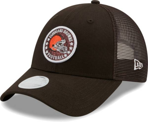 New Era Women's Cleveland Browns Brown Sparkle Adjustable Trucker Hat product image