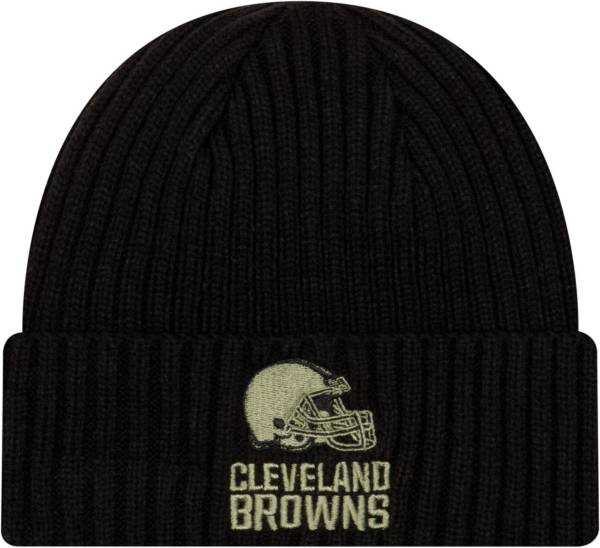 New Era Men's Salute to Service Cleveland Browns Black Knit Hat product image