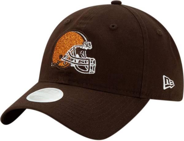 New Era Women's Cleveland Browns Brown Glisten 9Twenty Adjustable Hat product image