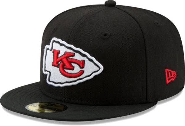 New Era Men's Kansas City Chiefs Black 59Fifity Logo Fitted Hat product image