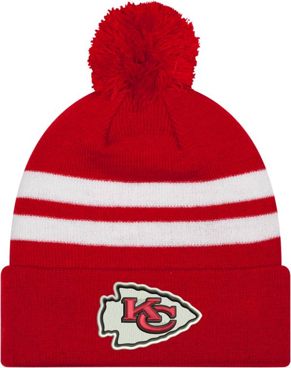 New Era Men's Kansas City Chiefs Stripe Cuff Red Pom Knit product image
