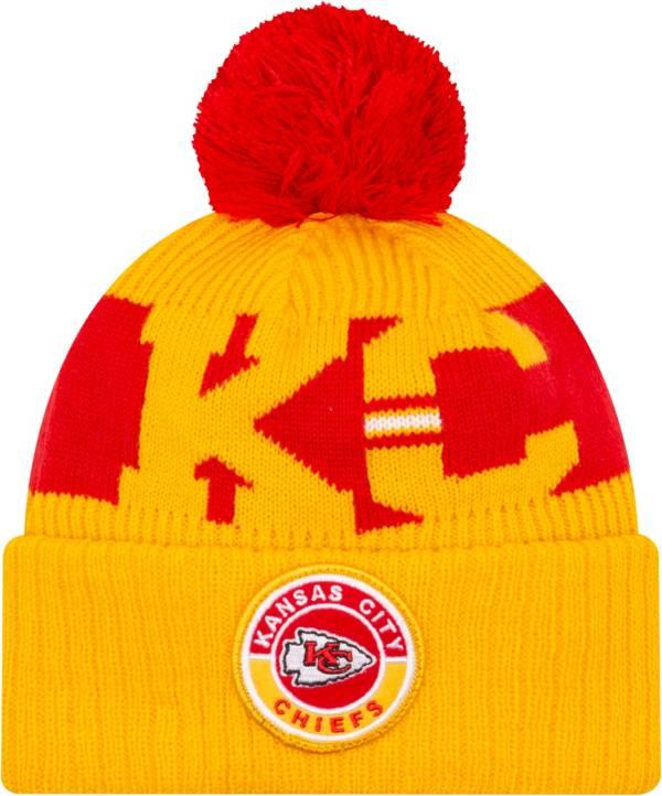 New Era Men's Kansas City Chiefs Sideline Sport Gold Knit Hat product image