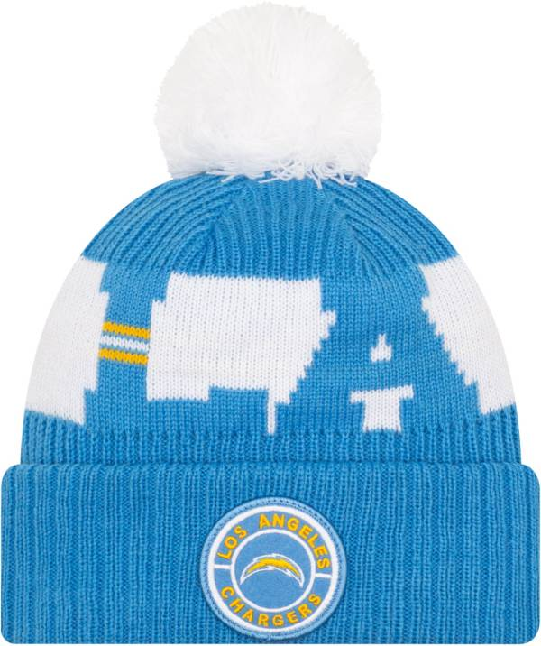 New Era Men's Los Angeles Chargers Sideline Sport Blue Knit Hat product image