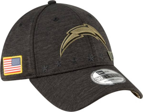 New Era Men's Salute to Service Los Angeles Chargers 39Thirty Stretch Fit Black Hat product image