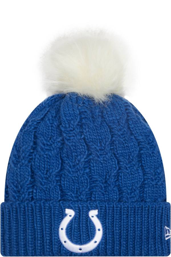 New Era Women's Indianapolis Colts Grey Flurry Knit Pom Beanie product image