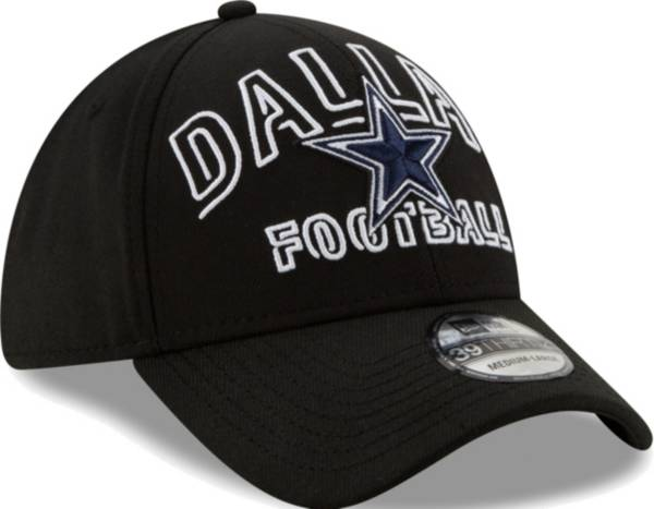 New Era Men's Dallas Cowboys 2020 NFL Draft Alternate 39Thirty Stretch Fit Black Hat product image