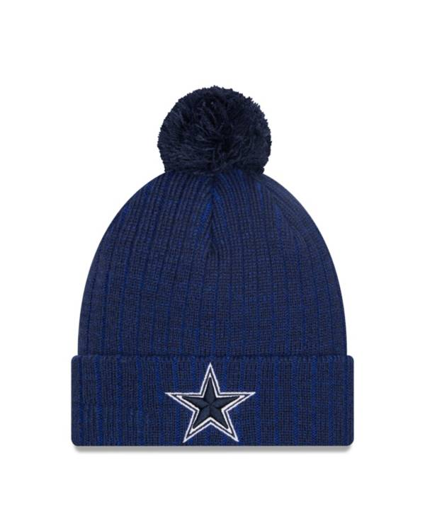 New Era Men's Dallas Cowboys Breeze Cuff Navy Pom Knit Hat product image