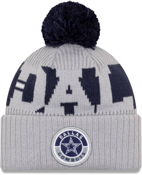 New Era Men's Dallas Cowboys Sideline Sport Grey Knit Hat product image